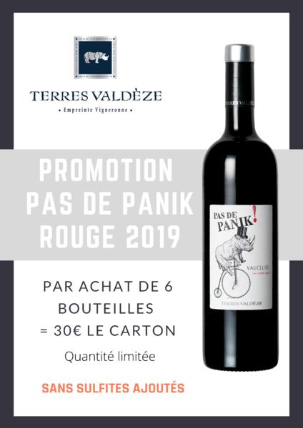 PROMOTION PAS DE PANIK ROUGE